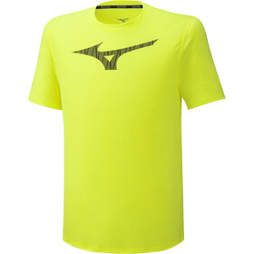 Mizuno Core Graphic RB T-shirt Heren, safety yellow